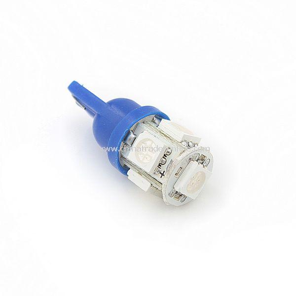 T10 5050 Bulb Wedge Car 5-LED SMD Blue Light New