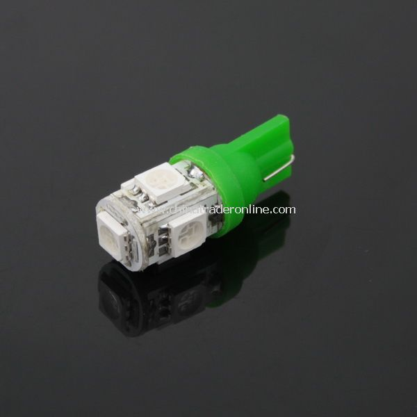 T10 5050 Bulb Wedge Car 5-SMD LED Green Light New from China
