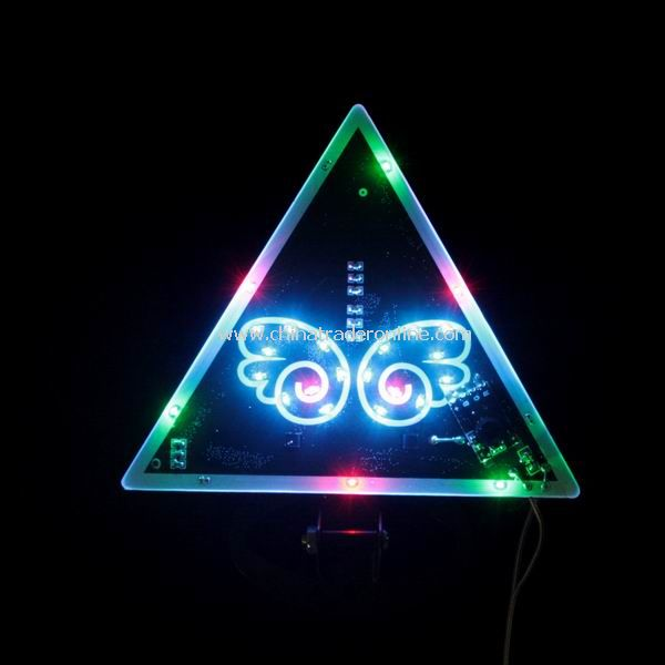 Triangle Butterfly Pattern LED Colorful Car Warning Light New