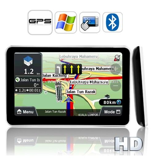 5 Inch HD Touch Screen GPS Navigator