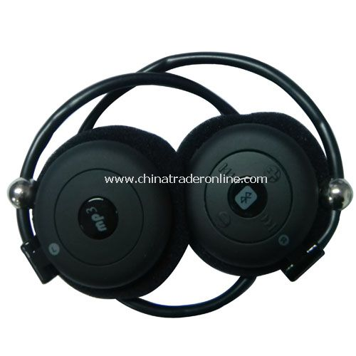 BLUETOOTH + MP3 SPORTS HEADSET WITH TF CARD SLOT