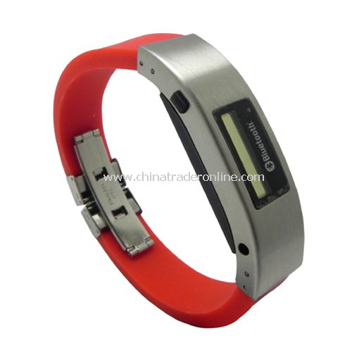 Bluetooth Bracelet with Vibration & LCD Display(Red)