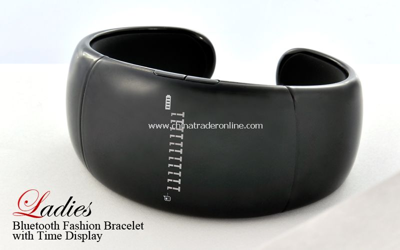 Bluetooth Fashion Bracelet with Time Display (Call/Distance Vibration, Caller ID, Music)