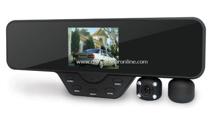 Dual lens HD car dvr 3.5 LCD DVR camera recorder Video