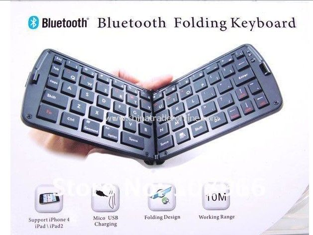 Portable Bluetooth Folding Keyboard for iPhone 4/ iPad/ iPad 2