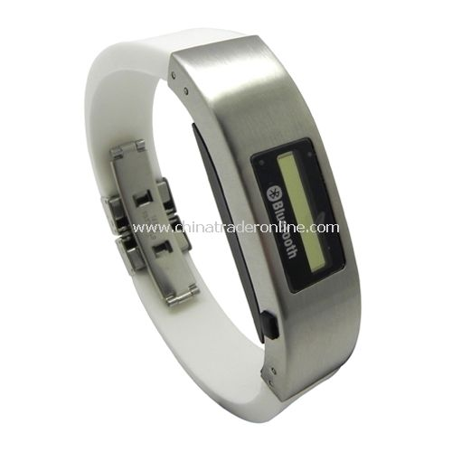 Bluetooth Bracelet with Vibration & LCD Display(White)