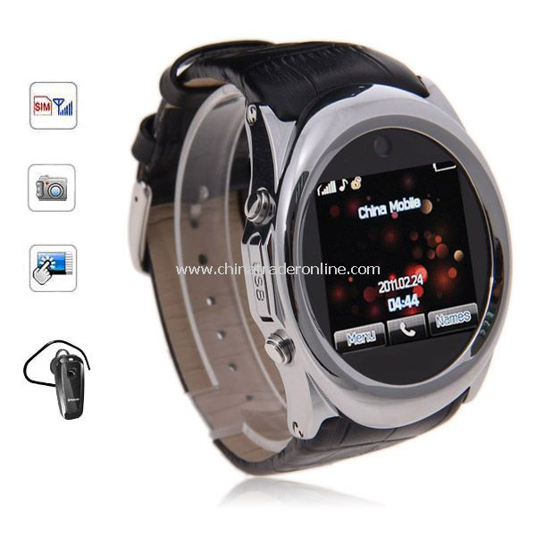 G888 1.5 inch Watch Phone Single SIM Touch Screen with Bluetooth from China