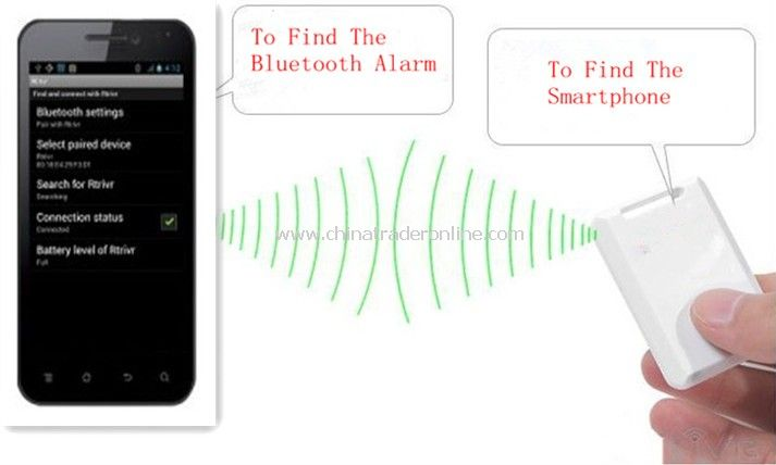 NEW Anti Lost Alarm Bluetooth Alarm - Alerts Smartphone of Missing Valuables