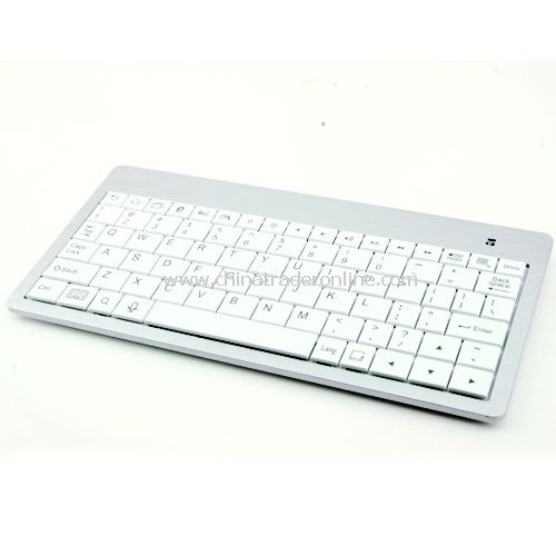 2.4GHz Mini Wireless Bluetooth Keyboard For Laptop PC PS3 PDA White from China