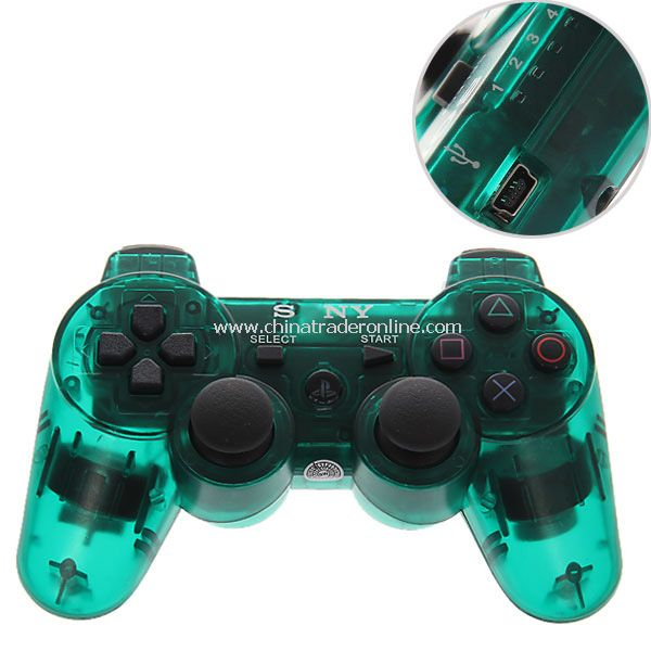 Bluetooth Dual Shock3 Wireless Controller Rechargeable Joypad for PlayStation 3-green