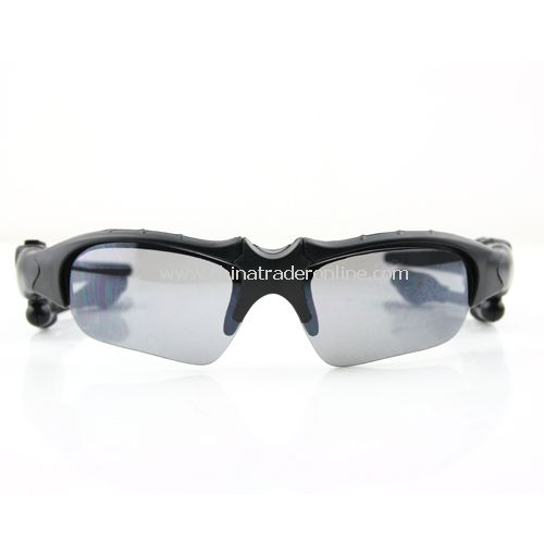 Glass black Sunglasses Sun Glasses Bluetooth Headset headphone