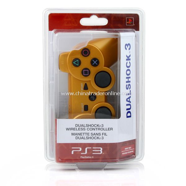 golden Wireless Bluetooth Game Controller for Sony PS3
