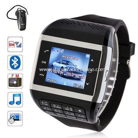 Q5+ Watch Phone 1.3 inch Touch Screen Single SIM with FM Bluetooth