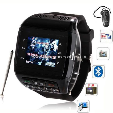 Q6 Watch Phone 1.3 inch Touch Screen Single SIM with Bluetooth FM