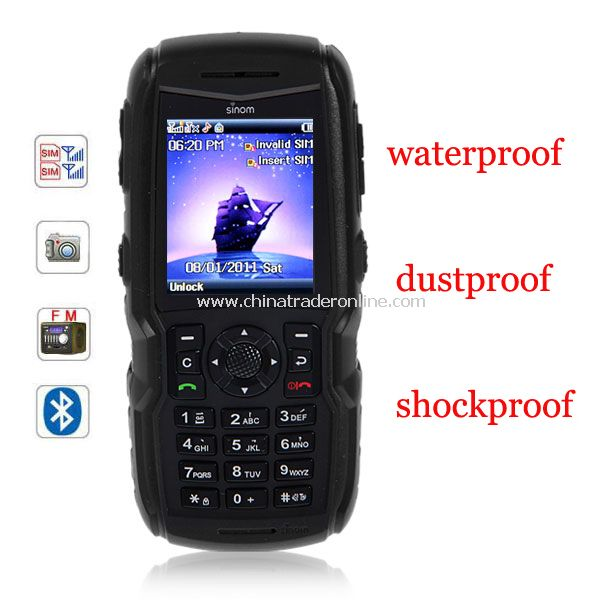X9 2.0 inch Dual SIM Cell Phone Waterproof Dustproof Shockproof Quad Band FM Bluetooth