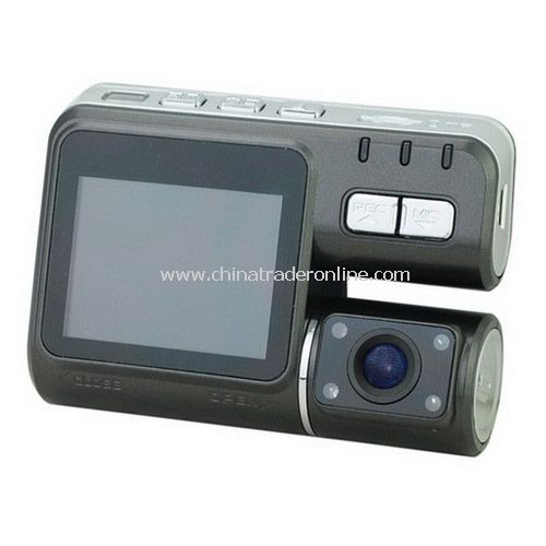 HD 720P Dual camera car dvr/video recorder Double lens camcorder