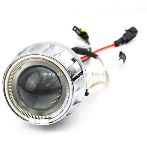 HID Bi-Xenon Motorcycle Projector Lens Kit H7 H1 H4 White Angel Eye White Devil Eye