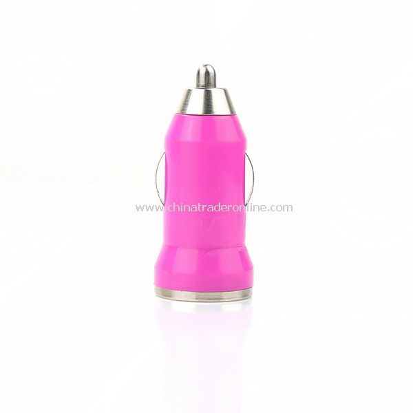 Mini Car Charger Adaptor for iPhone 3G 3GS 4G Deep Red