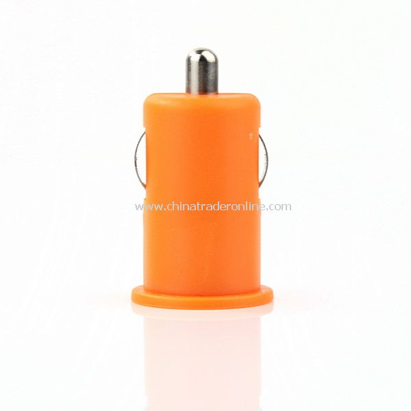 Mini Car Charger Adaptor for iPhone 3G 3GS 4G Orange