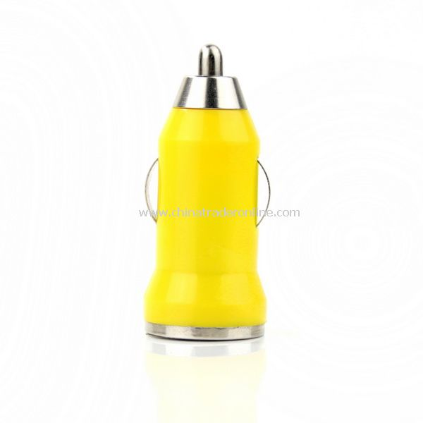 Mini Car Charger Adaptor for iPhone 3G 3GS 4G Yellow