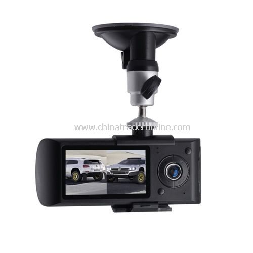 R300 Dual Lens Car DVR GPS G-sensor 2.7 inch LCD screen Car Recorder