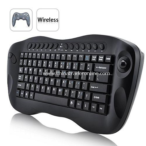 Computer Remote Control – Mini Wireless Keyboard with Trackball