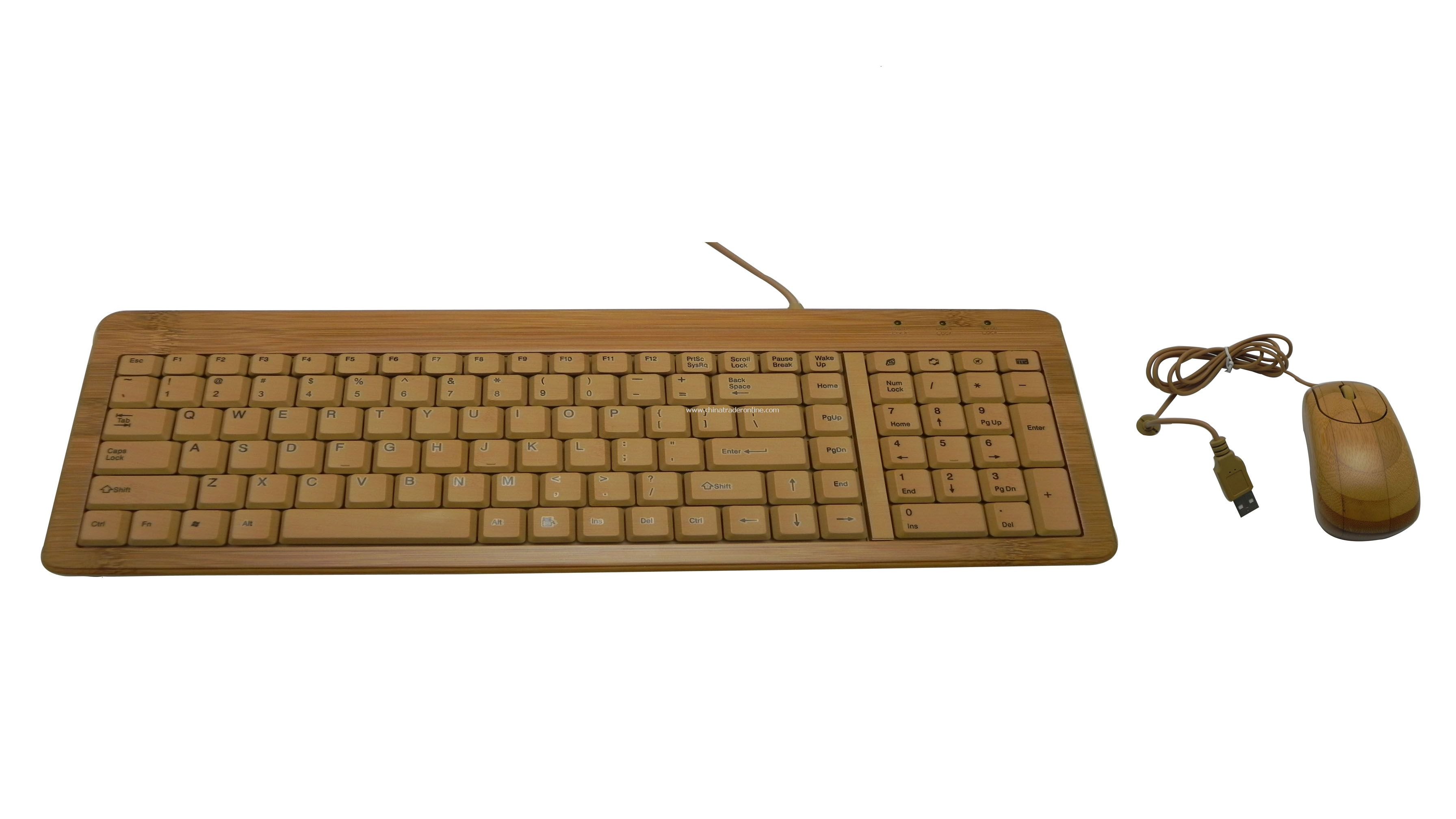 NEW Bamboo Keyboard and Mouse - USB Wired Keyboard