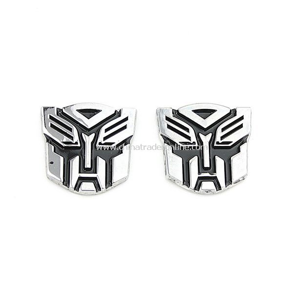 2PCS 3D Transformer Autobot Logo Emblem Badge Sticker