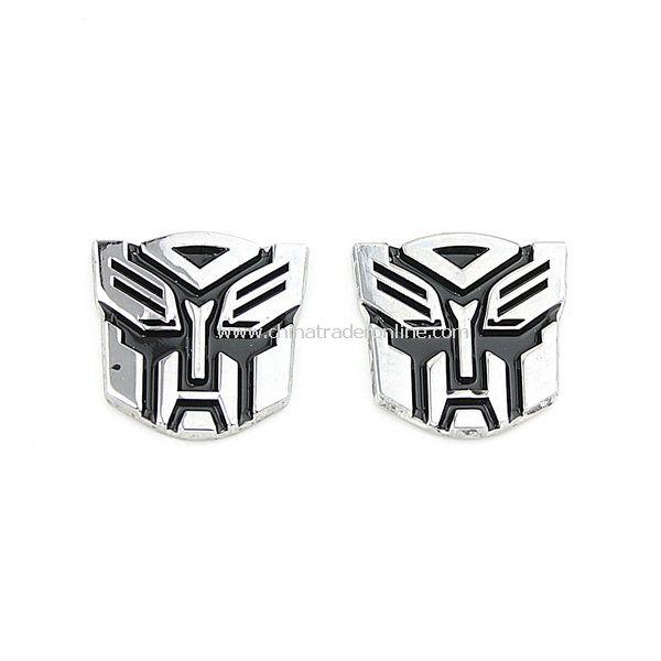 2PCS 3D Transformer Autobot Logo Emblem Badge Sticker from China