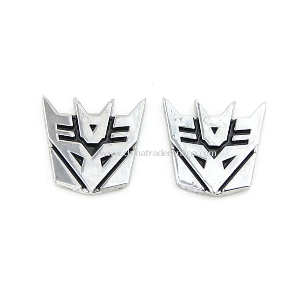 2PCS 3D Transformer Logo Emblem Badge Car Sticker