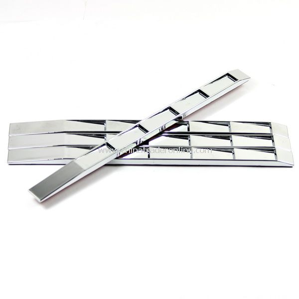 4 X Silver Car Decorative Sticker with Double-Side Tape