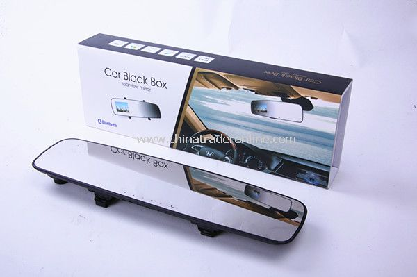 HD 1080P 2.7 Bluetooth Car DVR Rearview Mirror Blackbox