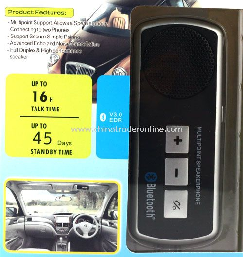 High Quality Handsfree In-car Bluetooth Speakerphone Car Kit Speaker Phone