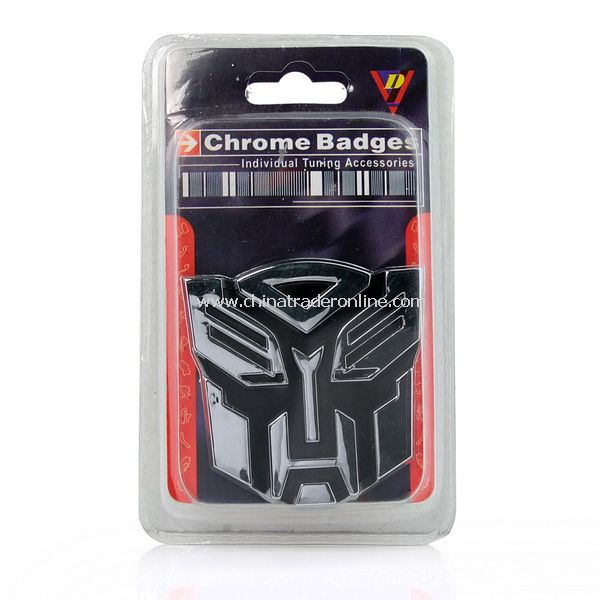 New 3D Transformer Logo Emblem Car Badge Sticker Chrome