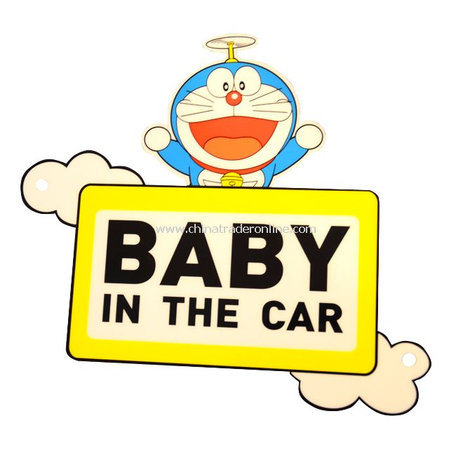 "New Doraemon ""BABY IN THE CAR"" Safety Car Sign Decal Sticker"