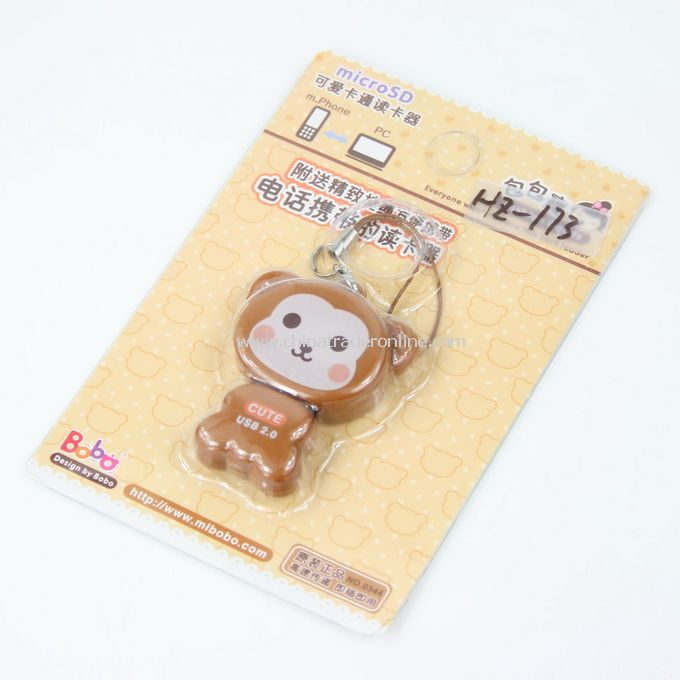 coffee monkey Cartoon Mobile Reader