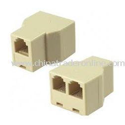 new rj11 rj 11 connector splitter extender plug adapter. Black Bedroom Furniture Sets. Home Design Ideas