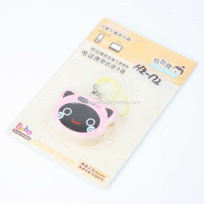 pink cat Cartoon Mobile Reader