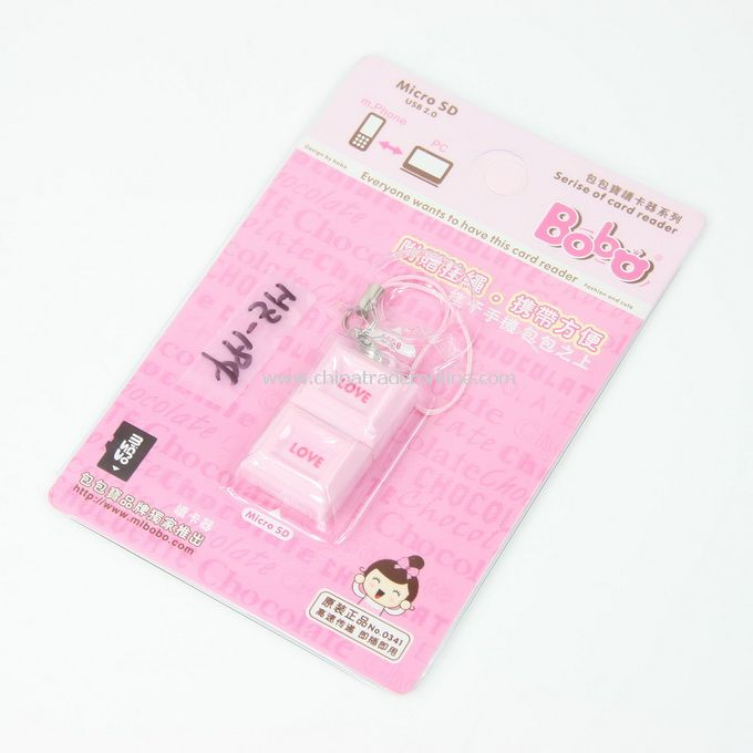 pink chocolate Cartoon Mobile Reader