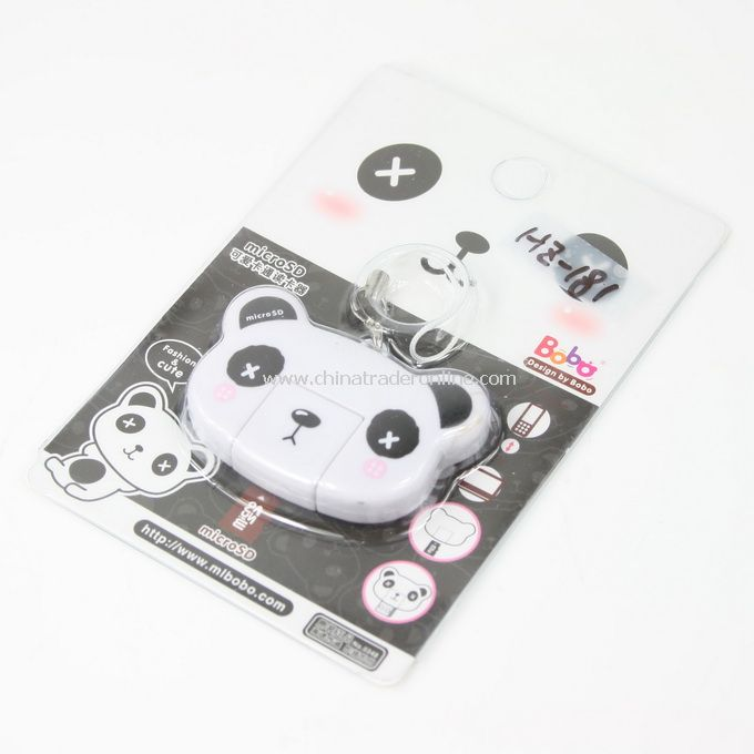 White panda Cartoon Mobile Reader