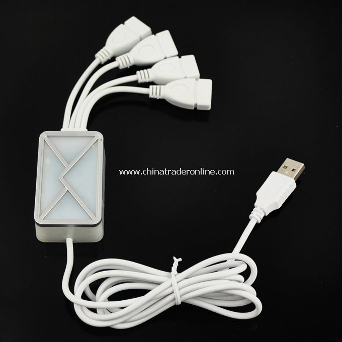 Brand New Mini White USB2.0 Webmail Notifier for PC Laptop Notebook