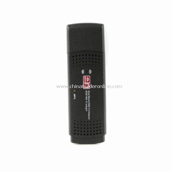 Dual band USB 2.0 Adapter 2.4GHz/5.8GHz 300 Mbps IEEE 802.11 a/b/g/n from China