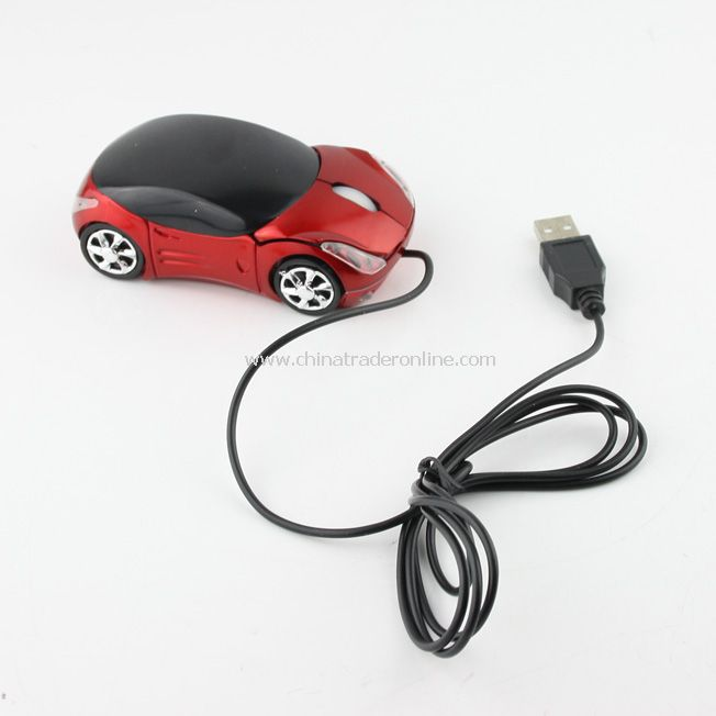 Mini Car Shaped USB 2.0 3D Optical Mouse Mice w/ Scroll Wheel for PC Laptop Notebook Computer