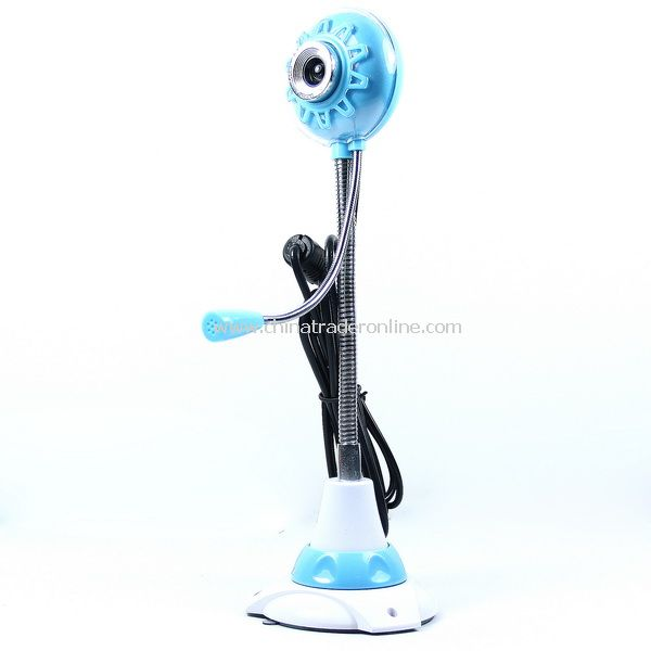 5.0 Megapixel USB PC Digital Camera Webcam w/ Mic Blue