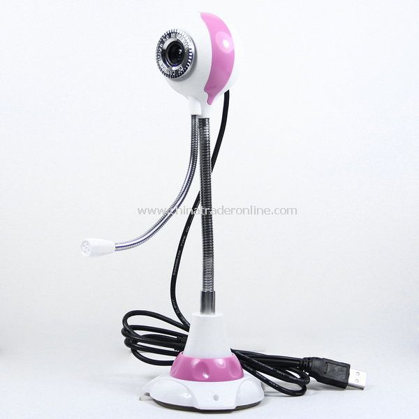 5.0 MP Camera Round Shaped PC Webcam w/ Mic Pink