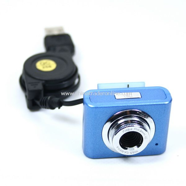 5.0 MP USB Webcam Web Camera for Laptop w/Clip Blue
