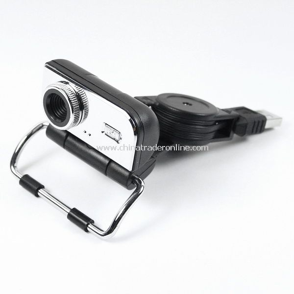 5.0 MP USB Webcam Web Camera for Laptop w/Stand Black