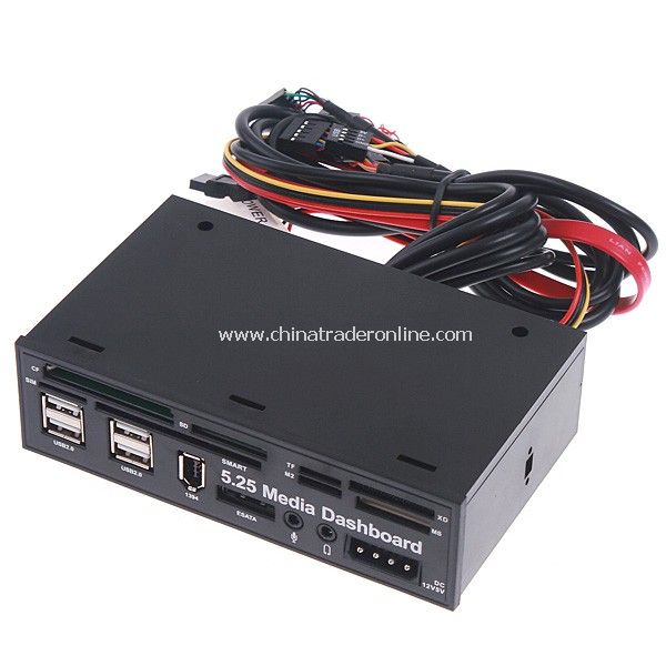 5.25 PC Media Dashboard Front Panel USB Card Reader