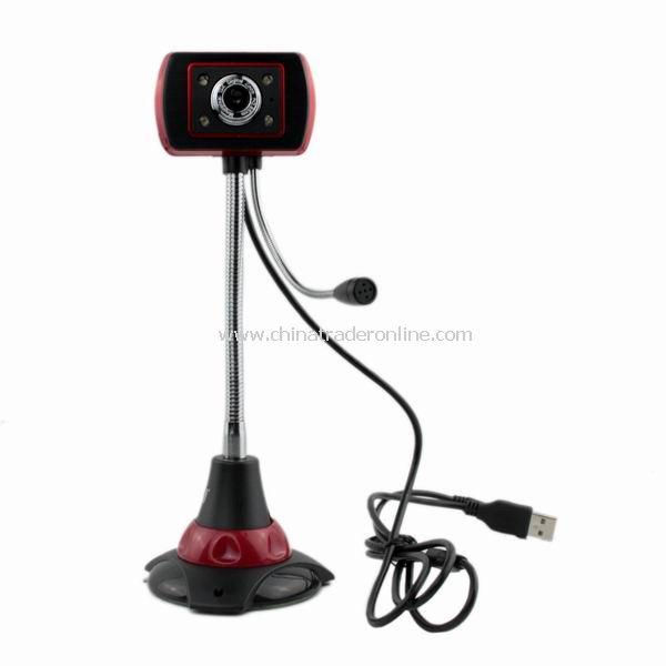 8.0 Mega pixel rectangle Shaped USB Digital PC Camera Webcam w/ Mic from China