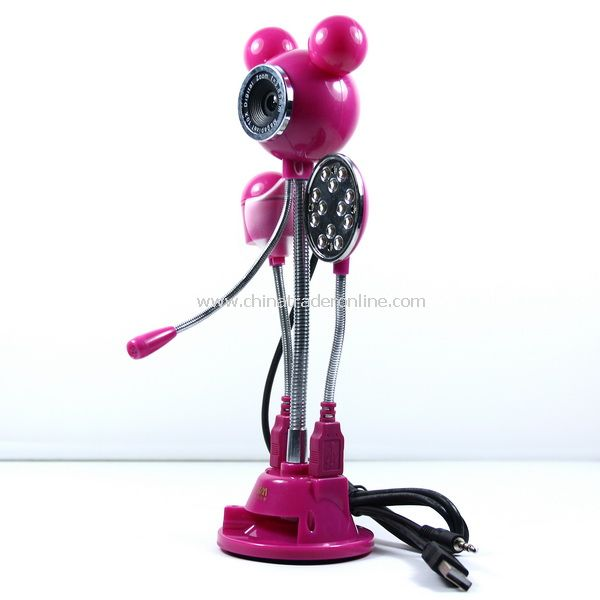 Mickey 5.0 MP USB PC CAMERA WEBCAM Led Light Cooler Fan